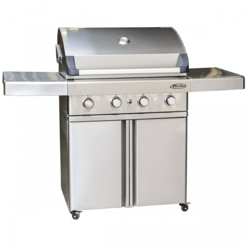 Turbo elite 5 burner built in barbecue gas grill the fireplace place
