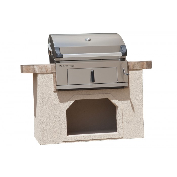 turbo stainless steel built in charcoal grill the fireplace place. Black Bedroom Furniture Sets. Home Design Ideas